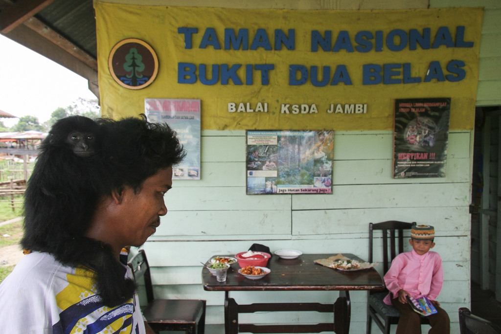 The reception office of Bukit Duabelas National Park. Jambi province. Sumatra. Indonesia.